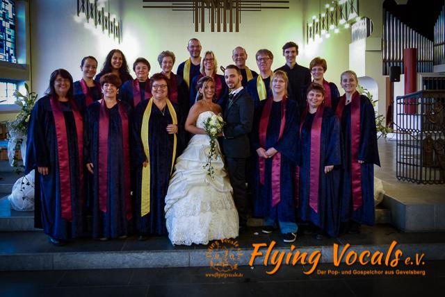 Hochzeit Angelo und Angela, Herz-Jesu-Kirche Ennepetal, Flying Vocals